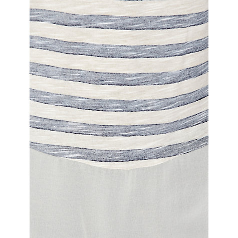 Buy Warehouse Stripe Stud T-Shirt Online at johnlewis.com