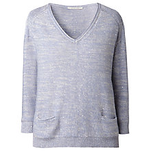 Buy Gérard Darel Sequinned Jumper, Sky Blue Online at johnlewis.com