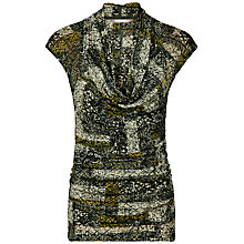 Buy Sandwich Ethnic Crinkle Cowl Neck Top, Multi Online at johnlewis.com