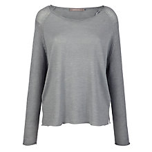 Buy Sandwich Linen Rayon Mix Boxy Jumper, Dove Grey Online at johnlewis.com