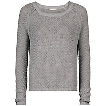 Buy Sandwich Sparkle Cotton Linen Blend Jumper, Dove Grey Online at johnlewis.com