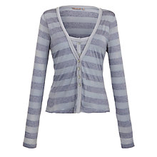 Buy Sandwich Jersey Striped Cardigan, Dove Grey Online at johnlewis.com