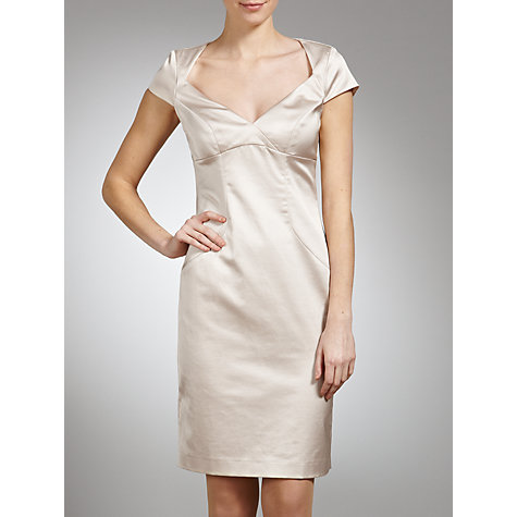 Buy Tara Jarmon Satin Diamond Back Dress Online at johnlewis.com