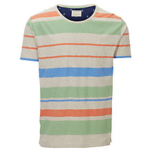 Buy Selected Homme Bradbury Multi Stripe T-Shirt Online at johnlewis.com