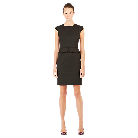 Buy Warehouse Pipe Detail Work Dress, Black Online at johnlewis.com