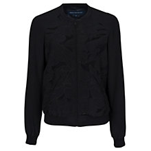 Buy French Connection Bomber Petal Jacket, Black Online at johnlewis.com