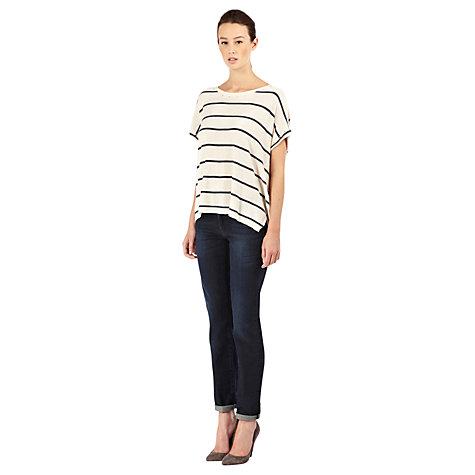 Buy Warehouse Straight Leg Jeans, Indigo Online at johnlewis.com