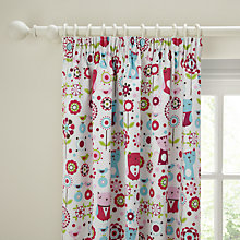 Buy little home at John Lewis Kaleidoscope Blackout Lined Pencil Pleat Curtains, Pink Online at johnlewis.com