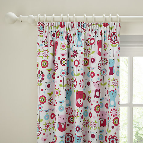 Buy little home at John Lewis Owl & Pussycat Blackout Pencil Pleat Curtains, Pink Online at johnlewis.com