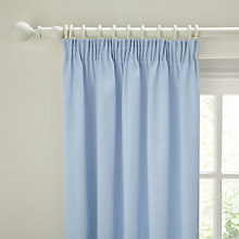 Buy John Lewis Polycotton Pencil Pleat Lined Curtains, Pair Online at johnlewis.com
