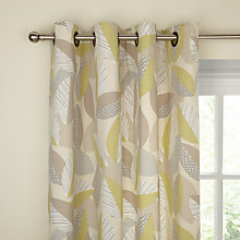 Buy John Lewis Linden Leaves Eyelet Lined Curtains, Fennel Online at johnlewis.com