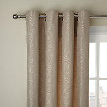 Buy John Lewis Ogee Wave Eyelet Lined Curtains, Natural Online at johnlewis.com