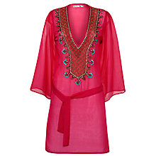 Buy Blue Mojito Monica Embroidered Kaftan, Pink Online at johnlewis.com