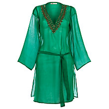 Buy Blue Mojito Embroidered Kaftan, Jade Online at johnlewis.com