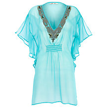 Buy Blue Mojito Beaded Kaftan Dress Online at johnlewis.com