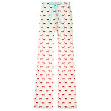 Buy Joules Horse Pyjama Bottoms, Pink/Ivory Online at johnlewis.com