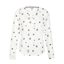 Buy John Lewis Dandelion Lounge Pyjama Top, Ivory/Grey Online at johnlewis.com