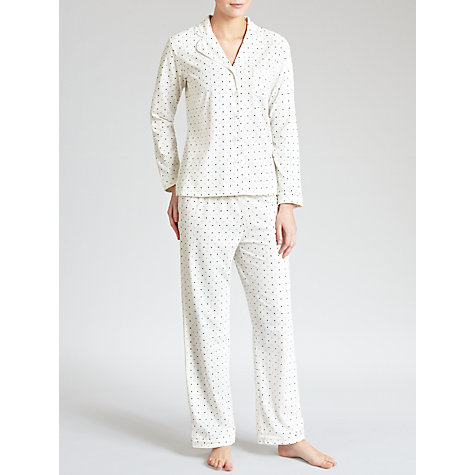 Buy John Lewis Polka Dot Pyjama Set, Ivory Online at johnlewis.com