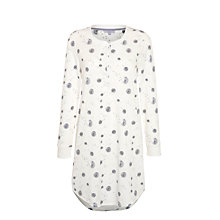 Buy John Lewis Dandelion Lounge Nightdress, Ivory/Grey Online at johnlewis.com