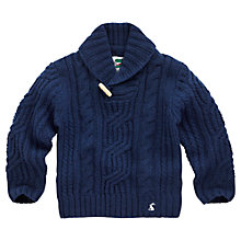 Buy Little Joule Gibson Cable Knitted Jumper, Navy Online at johnlewis.com