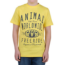 Buy Animal Boys' Hinoki T-Shirt, Yellow Online at johnlewis.com
