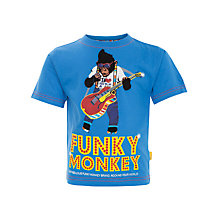 Buy Funky Monkey Guitar T-Shirt, Blue Online at johnlewis.com