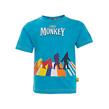 Buy Funky Monkey Evolution T-Shirt, Turquoise Online at johnlewis.com