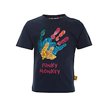 Buy Funky Monkey Hand Print T-Shirt, Navy/Multi Online at johnlewis.com