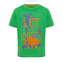 Buy John Lewis Boy Sunshine T-Shirt, Green Online at johnlewis.com