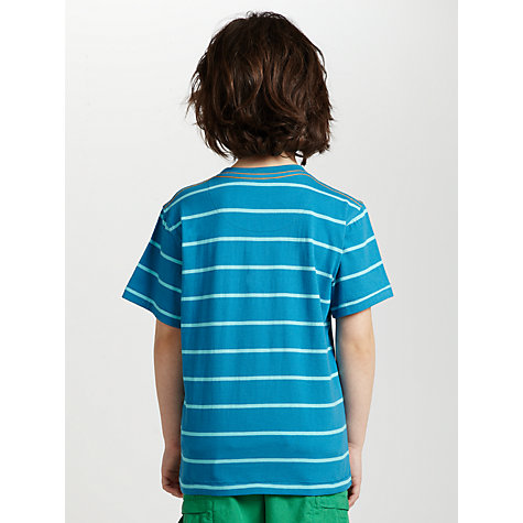 Buy John Lewis Boy Striped Scorpion T-Shirt, Blue Online at johnlewis.com