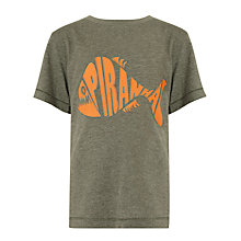 Buy John Lewis Boy Piranha Graphic T-Shirt, Green/Orange Online at johnlewis.com