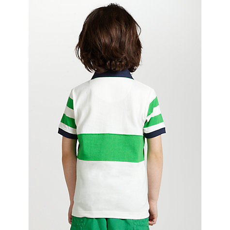 Buy John Lewis Boy Palm Tree Polo Shirt, White/Green Online at johnlewis.com