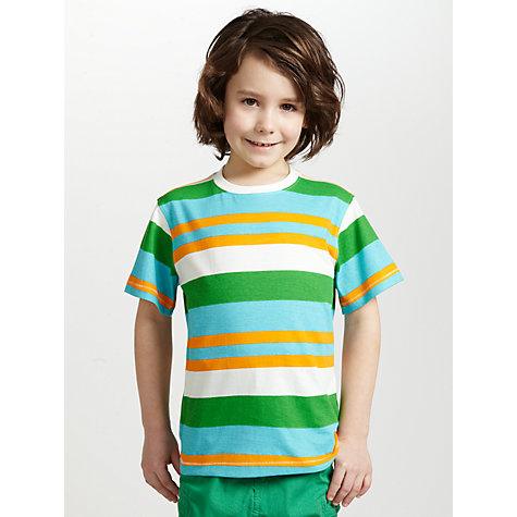Buy John Lewis Boy Multi Striped T-Shirt Online at johnlewis.com