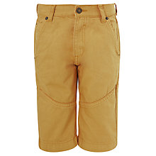 Buy John Lewis Boy Coloured Denim Shorts, Yellow Online at johnlewis.com