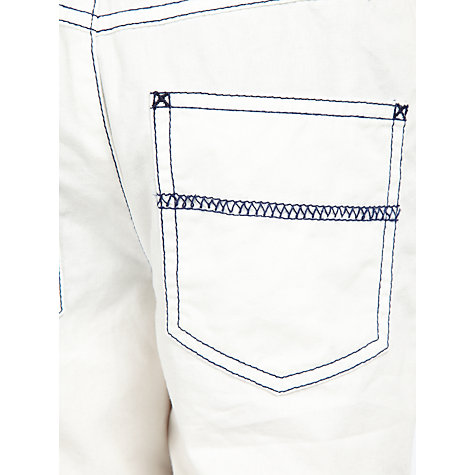 Buy John Lewis Boy Pull On Shorts, White Online at johnlewis.com