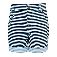 Buy John Lewis Boy Horizontal Stripe Shorts, Blue Online at johnlewis.com