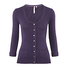 Buy White Stuff Pemba Cardigan, Purple Rain Online at johnlewis.com
