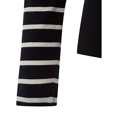 Buy Hobbs Dara Striped Sleeve Top, Navy/Ivory Online at johnlewis.com