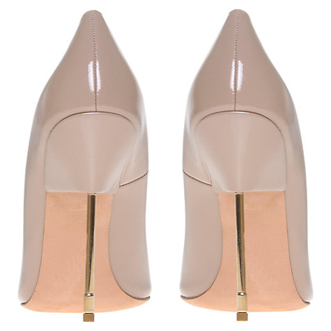 Buy Kurt Geiger Elliot Metal Stiletto Court Shoes, Nude Patent Online at johnlewis.com