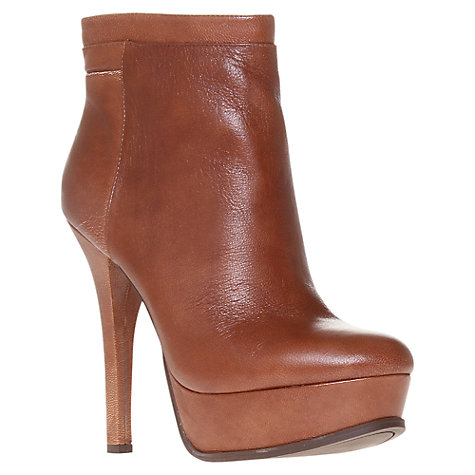 Buy Nine West Likeaqueen Stiletto Heel Platform Ankle Boots, Tan Online at johnlewis.com