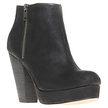Buy KG by Kurt Geiger Vera Zip Detail Leather Platform Ankle Boots Online at johnlewis.com