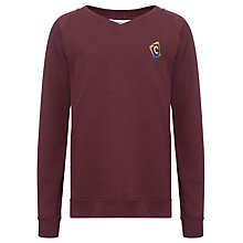 Buy Churchill Academy Unisex Sweatshirt, Maroon Online at johnlewis.com