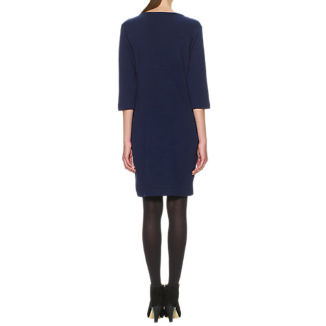 Buy Whistles Dellah Milana Stitch Dress, Navy Online at johnlewis.com