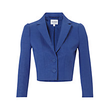 Buy Hobbs Invitation Cropped Jacket, Hydrangea Blue Online at johnlewis.com