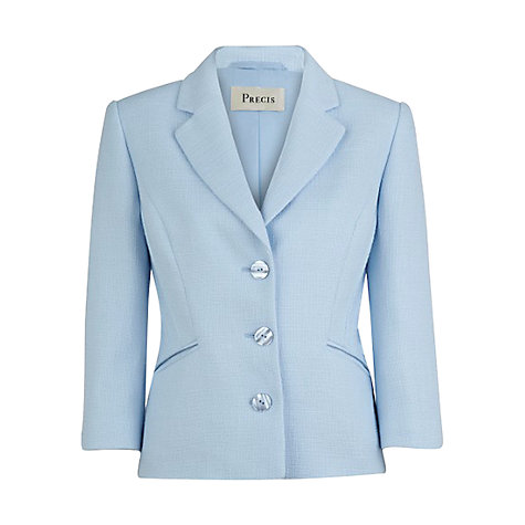 Buy Precis Petite Pintuck Blazer, Sky Blue Online at johnlewis.com