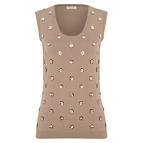 Buy Planet Floral Tank Top, Light Brown Online at johnlewis.com