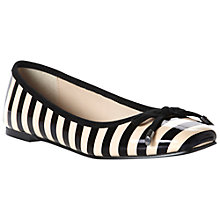 Buy Dune Maddoxs Stripe Print Bow Trim Patent Square Toe Pumps, Nude Online at johnlewis.com