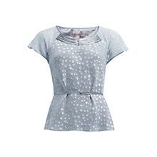 Buy Jacques Vert Jacquard Spot Blouse, Grey Online at johnlewis.com