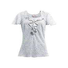 Buy Jacques Vert Spring Floral Blouse, Grey Online at johnlewis.com