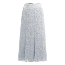 Buy Jacques Vert Soft Spring Floral Skirt, Grey Online at johnlewis.com